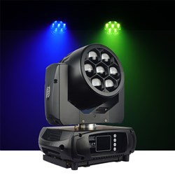 Event Lighting BM7W10RGBW Battery Powered 7x10W RGBW Moving Head Zoom Wash