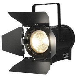 Event Lighting F100WWMZ Warm White 3000K Fresnel (100W) with Manual Zoom