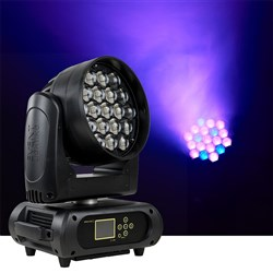 Event Lighting M19W15RGBW LED Pixel Control Moving Head Zoom Wash 19 x 15W RGBW