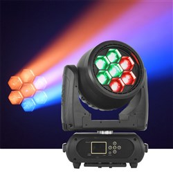 Event Lighting M7W40RGBW LED Pixel Control Moving Head Zoom Wash 7 x 40W RGBW