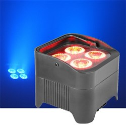 Event Lighting PAR4X12B LED Battery Operated Par Can 4x12W RGBWAU LED Wash
