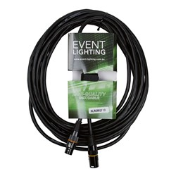 Event Lighting XLR5M5F10 5-Pin DMX Lead - Orange Indicator Ring (10m)