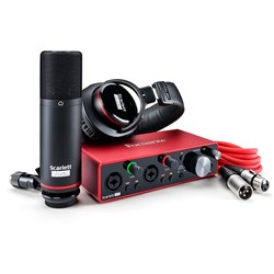 Focusrite Scarlett 2i2 Studio G3 USB Interface w/ Mic & Headphones