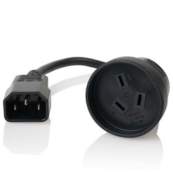 Furman ADP IEC Adaptor Cord 10A Male IEC to Female Aust Socket (Black - 1m)