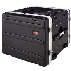 Gator GRR 8L 8U Rolling Molded Rack Case w/ Locking, Pull Handle & Recessed Wheels