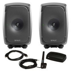"Genelec 8341A 6.5"" Powered 3-Way Studio Monitor (Pair) w/ FREE GLM Kit"