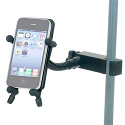 Hamilton KB125EBK Phone Holder With Gooseneck and Clamp