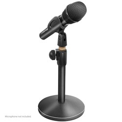 ICON MB-02 Desktop Height Adjustable Microphone Stand w/ Heavy Round Base