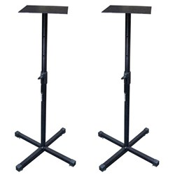 "ICON SB-100 Universal Monitor Stands For Up To 6"" Monitors (Pair)"