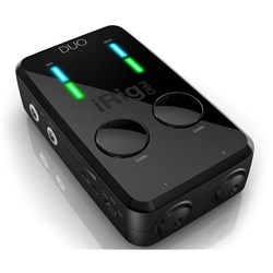 IK Multimedia iRig Pro Duo Audio/MIDI Interface for iOS Android & Mac/PC