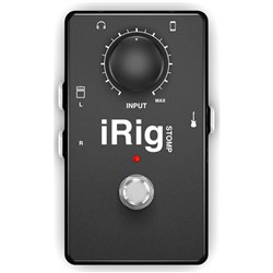 IK Multimedia iRig Stomp Stompbox Guitar Interface for iOS & Android