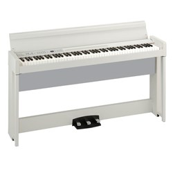 Korg C1 Air Digital Piano w/ RH3 Real Weighted Hammer Action Keyboard (White)