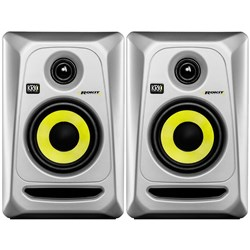 "KRK ROKIT RP4G3 4"" Studio Monitors (Silver Pair)"