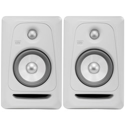 "KRK ROKIT RP5G3 5"" Studio Monitors (White Noise Pair)"