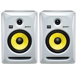 "KRK ROKIT RP6G3 6"" Studio Monitors (White Pair)"