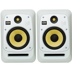 "KRK V8 S4 Powered 8"" Studio Monitors (Pair) (White Noise)"