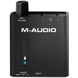 M-Audio Bass Traveller Portable Headphone Amplifier w/ Dual Outputs & Bass Boost