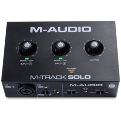 M-Audio M-Track Solo 2-Channel USB Audio Interface w/ Single 1/4-inch Combo Input