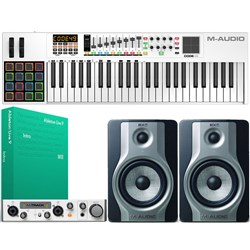 M-Audio Studio Bundle w/ Monitors, Keyboard, Interface, Ableton Intro & Software Pack