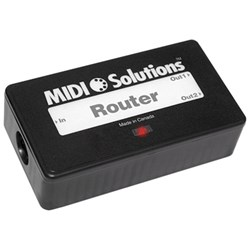 MIDI Solutions Router 1-In 2-Out MIDI Data Router/Filter