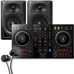 Pioneer DDJ400 2 Channel Rekordbox DJ Controller Pack w/ DM40 Studio Monitors