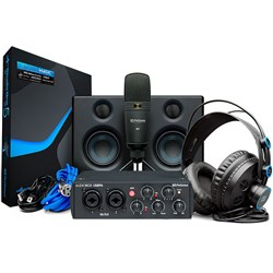 PreSonus AudioBox USB96 Studio Ultimate Bundle w/ Monitors Mic, Phones & DAW (Black)