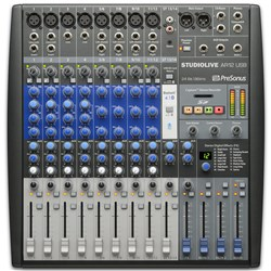 Presonus StudioLive AR12 USB 12-channel Hybrid Performance & Recording Mixer