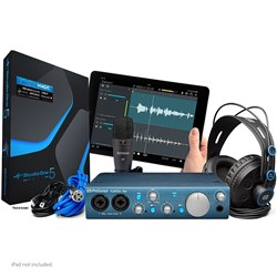 PreSonus AudioBox iTwo Studio Pack w/ USB & iPad interface, M7 Mic HD7 Phones & Studio One