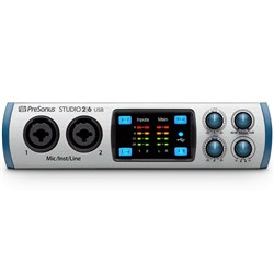 PreSonus Studio 2|6 2x4 USB Audio/MIDI Interface w/ Studio One Artist DAW & Studio Magic