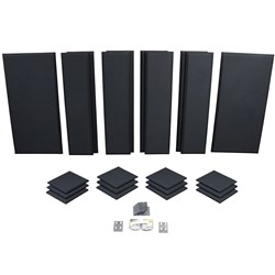 Primacoustic London 12 Kit- 12x Scatter Blocks 8x Columns 2 x Broadband Panels (Black)