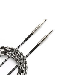 Planet Waves Premium Custom Series Braided Instrument Cable (20ft) (Black Grey)