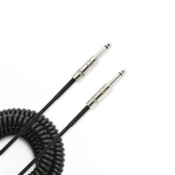 Planet Waves Premium Custom Series Coiled Instrument Cable (30ft) (Black)
