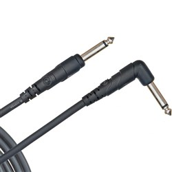 D'Addario Classic Series Right Angled Instrument Cable (10ft)