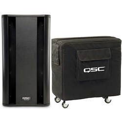 "QSC KSub 2x12"" Powered PA (1000W) Subwoofer w/ Cover"
