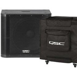 QSC KW181 1000w Powered PA Subwoofer w/ Cover