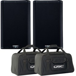 "QSC K8.2 8"" 2-Way Powered (2000W) Portable PA Speaker w/ Free Stands & Cables"