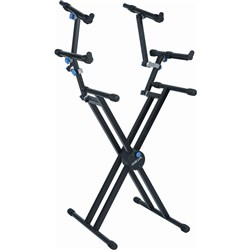 Quik Lok QL 723 Pro Heavy-Duty Double-Brace Triple-Tier X-Style Keyboard Stand