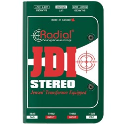 Radial JDI Stereo Passive Direct Box w/ Jensen JT-DB-EPC Transformers