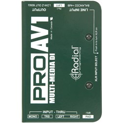 Radial ProAV1 Passive 1-Ch DI For Audio/Visual