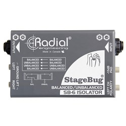Radial StageBug SB6 Stereo Passive Audio Isolator for Balanced & Unbalanced Signals