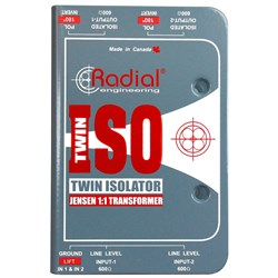 Radial Twin-Iso 2-Channel High Performance Balanced XLR Line Level Isolator