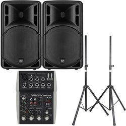 "RCF ART 315-A MK4 15"" Active Two-Way Speaker Pack w/ FREE Bags & Stands"