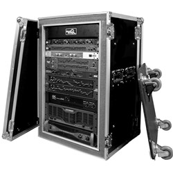 Road Ready RR18UAD Deluxe 18U Amp Case w/ Caster Base