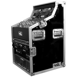 "Road Ready RRDJWS8 Dual CD & 19"" Mixer Case Workstation"