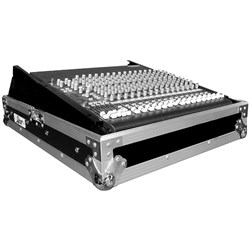 "Road Ready Universal 19"" Mixer Case w/ Rack Rails"