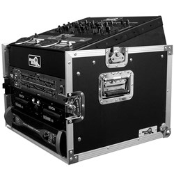 Road Ready RRM6U 10U Slant Mixer Rack / 6U Vertical Rack System