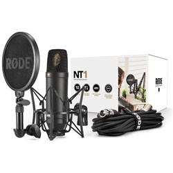 "Rode NT1 1"" Cardioid Condenser Microphone w/ SM6 Shock Mount & FREE XLR Cable"