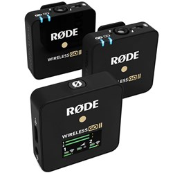 Rode Wireless GO II Dual Compact Wireless Mic System (Black)
