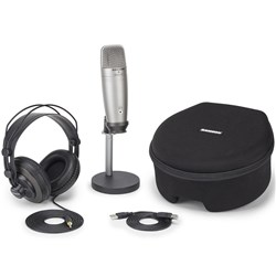 Samson C01U Pro Podcasting Pack USB Studio Condenser Mic w/ Accessories