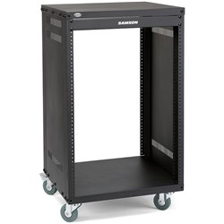 Samson SRK16 16-Unit Universal Rack Stand w/ Locking Casters